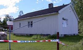 Mannen ble funnet drept i sin egen bolig. (Foto: Bjørn Anders Sørli/NRK)