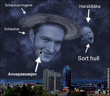 Også astronomien har en nattside. Her et sjeldent fenomen på stjernehimmelen over Oslo. (Innsendt av Geir Brevik)