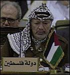 Palestinernes president Yasir Arafat (Foto: EBU).