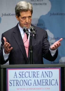 LEDER: Demokratenes John Kerry har en solid ledelse på en ny meningsmåling. (Foto: REUTERS/Robert Sorbo US ELECTION)