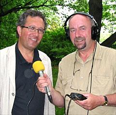 Sjømannsprest Svein Helge Rødahl og andaktsprodusent Helge Gudmundsen byr på sterke andakter fra New York i NRK P1. (Foto: NRK)