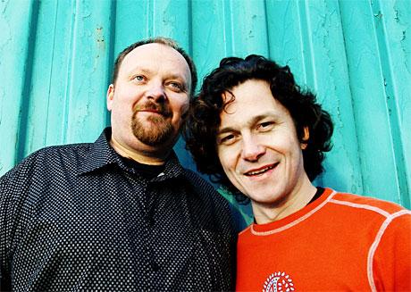 Walkabout-kameratene Nils og Ronny gjester NRK P1s hengekøye søndag 13. juni. (Foto: Nina Ruud)