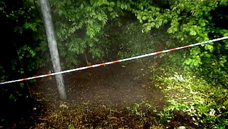 Åstaden for drapet på Anne Slåtten inneheld store mengde biologiske spor. (Foto: Randi Indrebø, NRK)