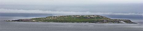Melkøya utenfor Hammerfest, stedet der Snøhvit-anlegget skal ligge. (Foto: Erlend Aas/Scanpix)