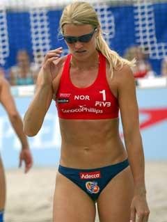Kathrine Maaseide i aksjon. (Foto: Alf Ove Hansen / SCANPIX)
