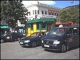 Taxiholdeplassen på Bragernes torg.