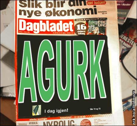 Agurken figurerer ofte i pressen.