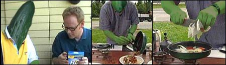 Agurken med reparatørtips, og som kokk i Sommeråpent. Agurksalat står neppe på menyen...