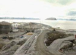 FARLIG ANLEGGSARBEID: Statoils anlegg på Melkøya ved Hammerfest.
