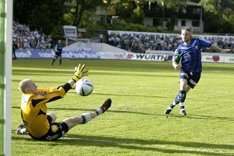 """Nadderud stadion med litt bedre """"føreforhold"""" enn nå om dagen. Arkivfoto: Håkon Mosvold Larsen, Scanpix"""