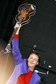 Paul McCartney på Valle Hovin. Foto: Heiko Junge, Scanpix.