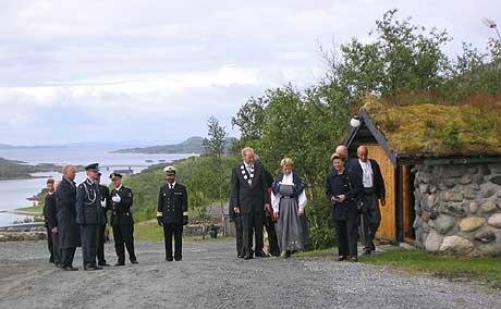 Kongeparet på Leka, foto: NRK Trøndelag