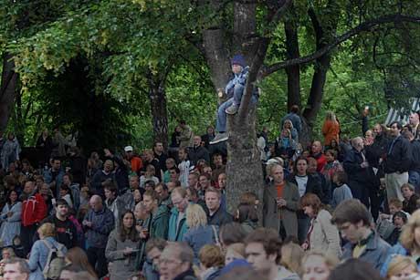 Kremplass under David Bowie-konserten på Norwegian Wood. 2004. Foto: Arne Kristian Gansmo, NRK.