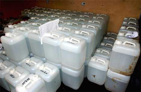 Denne metanolspriten ble beslaglagt i Moss (Foto: Scanpix/Heiko Junge)