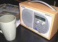 En av de nye DAB-radiomodellene. Foto: NRK