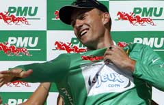 Baden Cooke vant den grønne spurttrøya i fjor. (Foto: AFP/Scanpix)