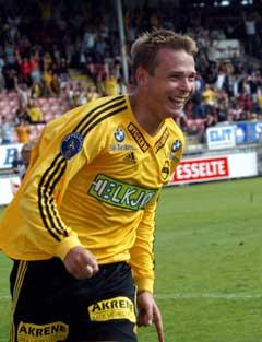 Arild Sundgot scoret ekte hat trick. (Foto: Bjørn Sigurdsøn / SCANPIX)