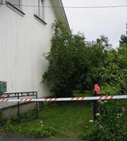 En 37 år gammel mann er siktet for drapet på 80 år gamle Bård Jensen i Porsgrunn. Foto: Anne Cathrine Syversen.