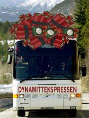 Snart blir det forbudt å ta med seg dynamitt på rutebussen.