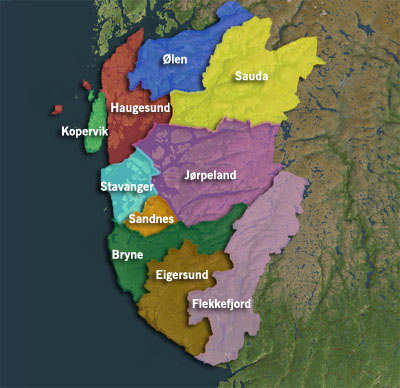 Mulige senterkommuner i Rogaland?