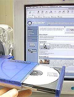 Napster er et av nettstedene som skal danne grunnlaget for den nye nedlastingslista til BBC. Foto: Scanpix.