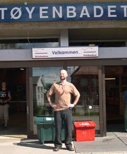 – Egentlig et flott sted, men det vanskjøttes av kommunen, sier Dokk Holm. Foto: NRK