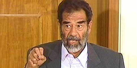 Saddam Hussein i dag. (Foto: CBS/EBU)
