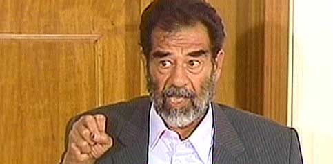 Saddam Hussein må snart i vitneboksen. Foto: CBS/EBU