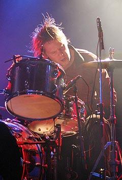 Trommis i Ricochets, Paul Alexander George Haglund II. Foto: Jørn Gjersøe, nrk.no/musikk,