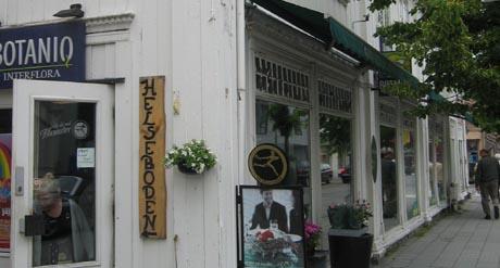 Butikker på Kongsberg.