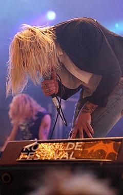 Silver var Norges mest rocka innslag på Roskilde fredag. Foto: Jørn Gjersøe, nrk.no/musikk.