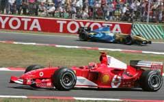 Michael Schumacher tok sin niende seier for året.(Foto: Reuters/Scanpix)