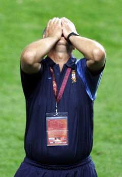 Luiz Felipe Scolari var fortvilet etter kampen. (Foto: AFP/Scanpix)
