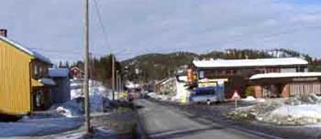 E134 gjennom Høydalsmo, Tokke.