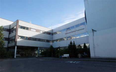 Fem ungdommer ble innlagt her, på Sykehuset Østfold Fredrikstad. En av dem var alvorlig metanolforgiftet. ( Foto: Morten Holm / SCANPIX )