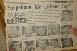 Finn Thorsen på rundens lag i VG i april 1970. (Foto: Jan Magne Brenden/NRK)