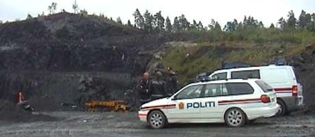Politiet har varslet arbeidstilsynet om ulykken i Valgerg-bruddet i dag. Foto: Roy Isnes.