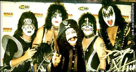 Ikke alle vet at KISS opprinnelig hadde fem medlemmer. Kaptein Sabeltann i midten. (Innsendt av NN)