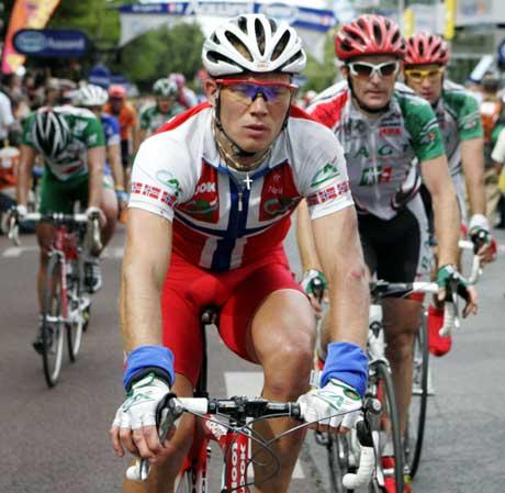 Thor Hushovd var meget skuffet etter å ha misset muligheten til å være med i spurtoppgjøret på den 6. etappen. Foto: Cornelius Poppe / SCANPIX