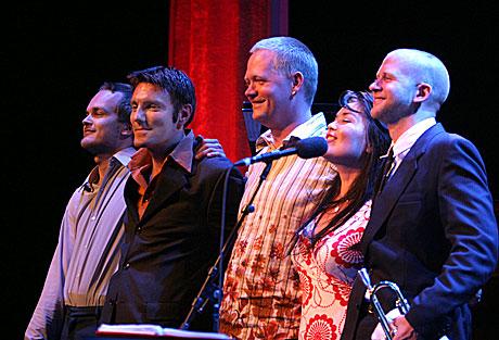 Solveig Slettahjell og Slow Motion Quintet på Moldejazz 2004. Foto: Arne Kristian Gansmo, NRK.