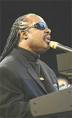 Stevie Wonder under Moldejazz 2004. Foto: Terje Bendiksby, Scanpix.