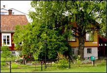 Idyllisk sjarm: I Brevik er den gamle bebyggelsen bevart