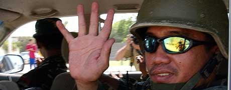 FORLOT IRAK: Fillippinske myndigheter håper tilbaketrekningen fra Irak skal redde livet til det fillipinske gisselet. (Foto: AFP)