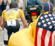 Eksempel på nærgående amerikanske sykkeltilhenger. (Foto: REUTERS/Bernard Papon/Pool)