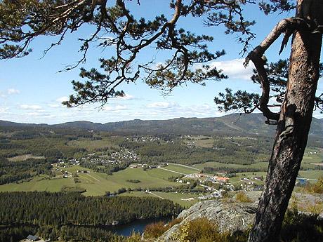 Siljan - Utsikt mot vest fra Ramsås. Foto: Siljan kommune
