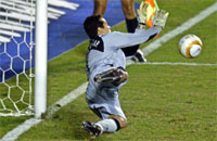 Brasil stopper ballen. PHOTO/DANIEL SILVA.