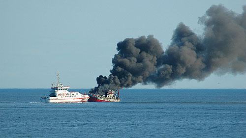 Slik så det ut like før Kransvik Jr. sank. Foto: Sindre Bottolfsen.