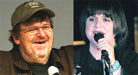 Michael Moore gjør gjerne en duett med Linda Ronstadt, men kan han synge, da? Foto: Scanpix.