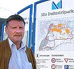 Bjørn Bjørkmo, Mo industripark. Foto: NRK