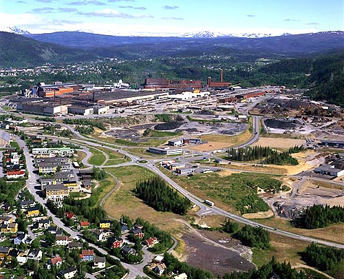 Mo industripark - sett fra sørvest.